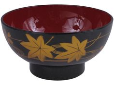 Rich Golden Autumn Maple Leaves Japan Soup Bowl