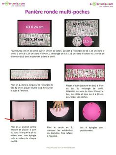 Tuto panière ronde multi-poches Blog Couture, Creation Couture, Couture Sewing, Sewing Accessories, Fabric Crafts, Sewing Projects, Eyeshadow, Scrapbook, Knitting