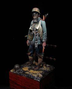 German Stormtrooper I World War, Andrea Miniatures,  Painter: David Hernanz