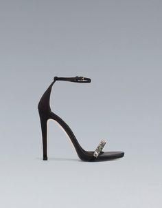 SANDALIA TIRA CRISTAL - Zapatos - Mujer - ZARA