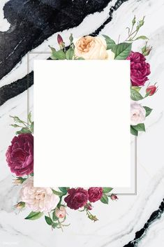 Rectangular frame decorated with roses vector Flower Background Wallpaper, Collage Background, Flower Backgrounds, Floral Banners, Floral Logo, 50th Wedding Anniversary Invitations, Ramadan Gifts, Wreath Drawing, Birthday Frames