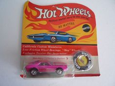 Original Custom AMX Hot Pink Mattel Hot Wheels redline blister package pack BP