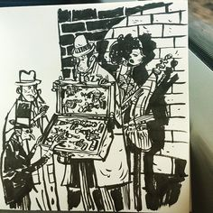 The Victorian Ray Gun Trade. In brush pen on a train cos having control over tools & surface is for the birds. by wocco
