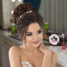 Awesome Side Braid Hairstyles Ideas For Girls Long Hair Wedding Styles, Elegant Wedding Hair, Wedding Hair Down, Wedding Hair And Makeup, Bridal Makeup, Wedding Updo, Side Braid Hairstyles, Bride Hairstyles, Down Hairstyles