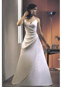 Clearance Strapless Sweetheart Neckline Spaghetti Straps Satin Wedding Dress New - $252.99 : Cheap wedding dresses