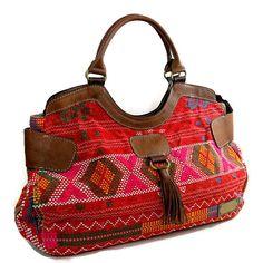 Women handmade handbags red leather handbag genuine by DeMamora