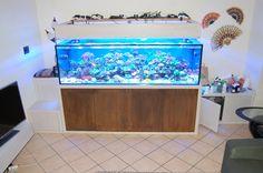 Mobile per acquario realizzato su misura in legno e corten. Custom made aquarium furniture custom realized with wood and Corten. Follow us on facebook for more details:www.facebook.com/G.NusfurnITure/notes