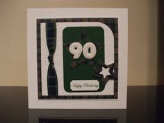 Handmade 90th Birthday Card Male