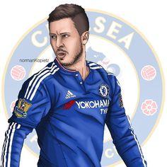 Chelsea Football, Football And Basketball, Chelsea Fc, Soccer, Eden Hazard, Legends, Illustrations, Club, Wallpaper