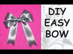 How to tie a perfect bow or a flat bow for scrapbooking or cardmaking - YouTube