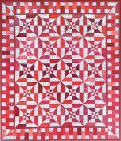 Debby Kratovil Quilts: Red Hot Flash free quilt pattern, link is about halfway down the page