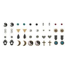 20 Pack Boho Grunge Stud Earrings