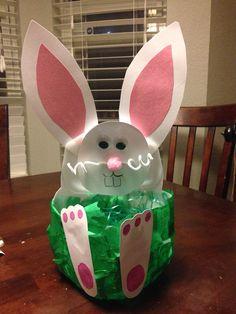 Cute bunny baskets made from milk jugs spring pinterest milk jug easter basket negle Choice Image