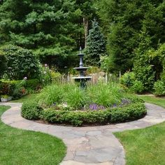 Fountain Landscapes Design Ideas, Pictures, Remodel, and Decor