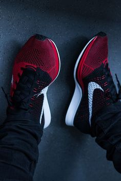 Red + Black Nike Flyknit