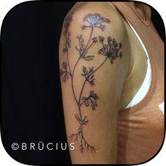 #BRÜCIUS #TATTOO #SF #brucius #engraving #natural #blackwork #linework #Etching #botanical #floral #anise