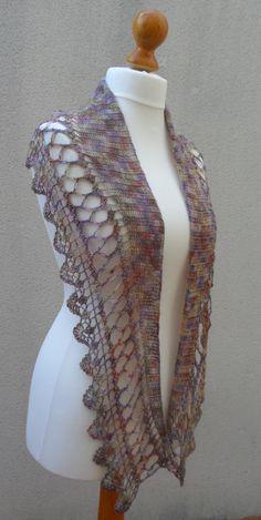 Pattern Pdf Espuma de mar shawl crochet van Fluxcreativite op Etsy