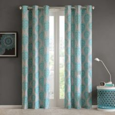 Intelligent+Design+2-pack+Lilly+Damask+Printed+Curtains