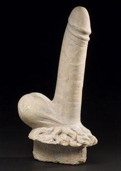 Carved male genitalia, Pompeii, 1-79 AD.