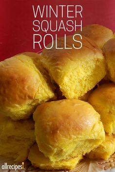 """Winter Squash Rolls   """"I don't say this lightly, but this is a phenomenal recipe. My family has demanded that I make these as often as possible. They are the perfect dinner roll, but they are also suited well for sandwiches."""""""