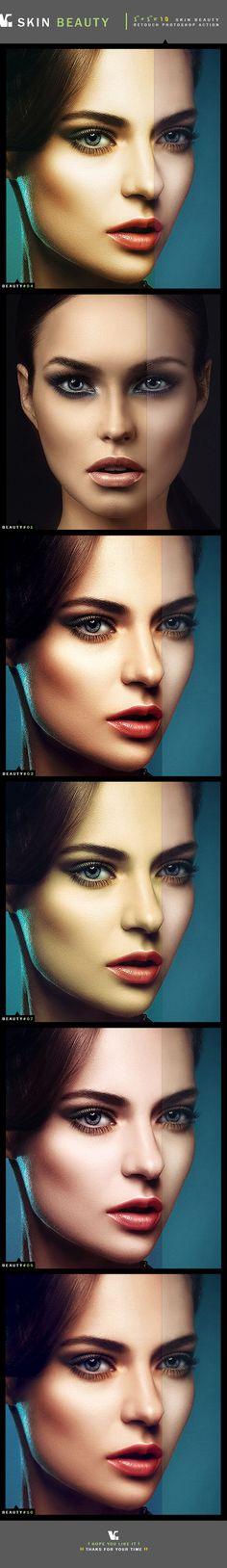 10 Skin Beauty Photoshop Action