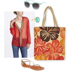 """Sungold"" by sassysaks @Polyvore http://www.sassysaks.com/products/beach-tote/sungold.php"