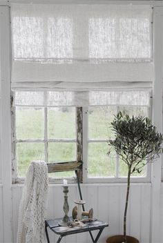 Nice blind in rustic linen ... and nice window!