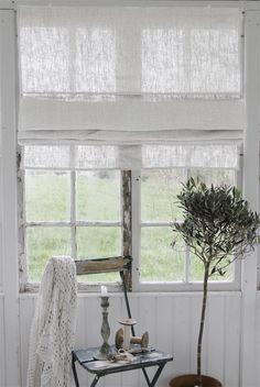 Nice blind in rustic linen ... and nice window!