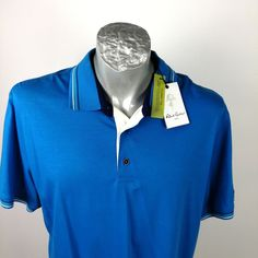 Robert Graham Blue Polo Shirt Sz XL Knit Flip Collar for sale online Robert Graham, Blue Polo Shirts, New Dress, Online Price, Polo Ralph Lauren, Knitting, Best Deals, Casual, Mens Tops