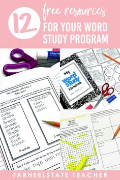 Words Their Way Free Resources for Word Study — Tarheelstate Teacher Common Core Activities, Fun Classroom Activities, Classroom Freebies, Teaching Vocabulary, Free Teaching Resources, Vocabulary Activities, Spanish Language Learning, Teaching Spanish, Language Arts