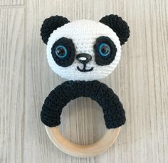 Amigurumi Rattle Panda Making - Crochet Panda, Crochet Teddy, Crochet Amigurumi, Crochet Bunny, Amigurumi Doll, Crochet Hats, Crochet Ring Patterns, Crochet Boots Pattern, Handmade Baby Gifts