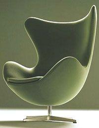 The Egg chair designed for the Radisson SAS hotel in Copenhagen, Denmark by Arne Jacobsen (1958)