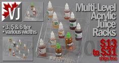 AWESOME RACK! – Multi-Tier Acrylic Juice Racks – $13-$31