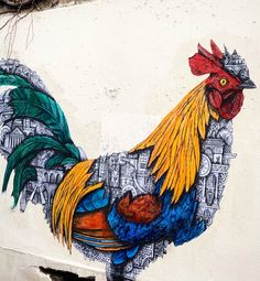An artwall by Graffiti Wall, Paris Photos, Street Artists, Urban Art, Collage, Animals, City Art, Collages, Animales