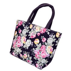 Fashional Floral Printing Design Women Flap Handbag Quality Canvas Small Casual Tote Bag Women's Shopping Bag Free Shipping * Click the image to find out more