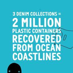 Denim from recycled ocean plastic. #rawfortheoceans