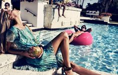 Valentina Zelyaeva's Chic Pool Party for Velvet June, Lensed by Marcus Ohlsson Lund, Miami Party, Valentina Zelyaeva, Pool Party Outfits, Luxury Lifestyle Women, Vogue Spain, Russian Beauty, Russian Models, Party Fashion