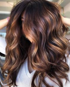 Unique Autumn Fall Hair Color Ideas For Long Hair; 810999845381231035 : Unique Autumn Fall Hair Color Ideas For Long Hair; Brown Hair Balayage, Brown Hair With Highlights, Hair Color Balayage, Ombre Hair, Purple Hair, Fall Hair Color For Brunettes, Fall Hair Colors, Brown Hair Colors, Hair Colours