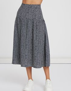 Flow Design, Casual Outfits, Casual Clothes, Ditsy Floral, Woven Fabric, Harem Pants, Midi Skirt, Floral Prints, Unisex