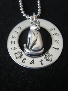 Crazy Cat Lady Necklace omg @Christina Childress Childress Mensah can you make this for me??