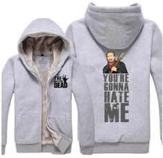 The walking dead thick fleece hoodie black clothing Property of Negan design Zip Up Hoodies, Hooded Sweatshirts, Sherlock Holmes, Moriarty, Fleece Hoodie, Winter Wear, Plus Size Outfits, Winter Outfits, Zip Ups