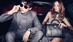 Night Fever – Karmen Pedaru and Simon Nessman return for the fall 2011 campaign from Michael Kors lensed by Mario Testino. Joined by Taylor Fuchs, the couple gets ready for a night out on the town complete with a limo ride and Kors' seventies glam designs.