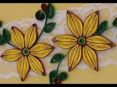 Quilling Made Easy # How to make Yellow Brown Flower Design using Paper Art Quilling -Paper Quilling - YouTube