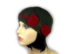 This olive green beanie hat is accented with a bright burgundy red interweaved crocheted band and a pretty matching bow. It is beautifully soft and warm. It can be worn either casually or with a more elegant outfit. Either way, it is a must have accessory in any girl's wardrobe. Girls Wardrobe, Elegant Outfit, Beanie Hats, Olive Green, Burgundy, Crochet Hats, Bows, Bright, Warm