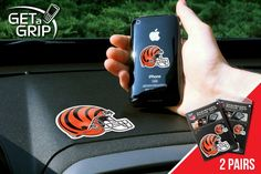 """Cincinnati Bengals Get a Grip 2 Pack - Let your favorite team get a grip on your device! Never wonder where your phone is again. This new product innovation utilizes two polymer grips that adhere to each other leaving you hands free. UAV Resistant. No residue left behind. Now comes in a 2 Pack FANMATS Series: 2GETAGRIPTeam Series: NFL - Cincinnati BengalsProduct Dimensions: small 1.5"""" / large 3""""Shipping Dimensions: 8""""x6""""x1"""". Gifts > Licensed Gifts > Nfl > Cincinnati Bengals. Weight: 0.50"""