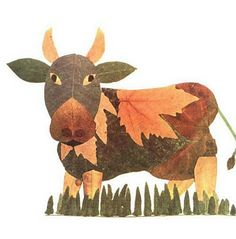 Amazing Leaves Artwork Animals - leafy cow