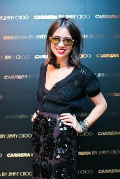 Jimmy Choo tarafından ünlü moda bloggerı Natasha Goldenberg yardımıyla geçen hafta Moskova'da düzenlenen özel altın temalı akşam yemeği ile tanıtılan leopar baskı tasarımı üzerine altın kaplama lensleriyle göz kamaştıran #Carrerajimmychoo koleksiyonu moda takipçileri için Mert Optik'te..   #Carrerasunglasses #CarreraJimmyChoo #Carrera