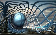 Caged Egg by marijeberting on DeviantArt Like Image, Alien Art, Art Studies, Types Of Art, Fractal Art, Photo Manipulation, Sacred Geometry, Beautiful Artwork, Trippy