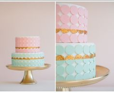 Love the colors of this cake and the pop of gold -- not necessarily the fondant, but the idea of the color scheme and use of gold to tie in the gold carousel horses