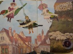 Fairy tale altered book by one of my favorite artists, Ulla Milbrath.